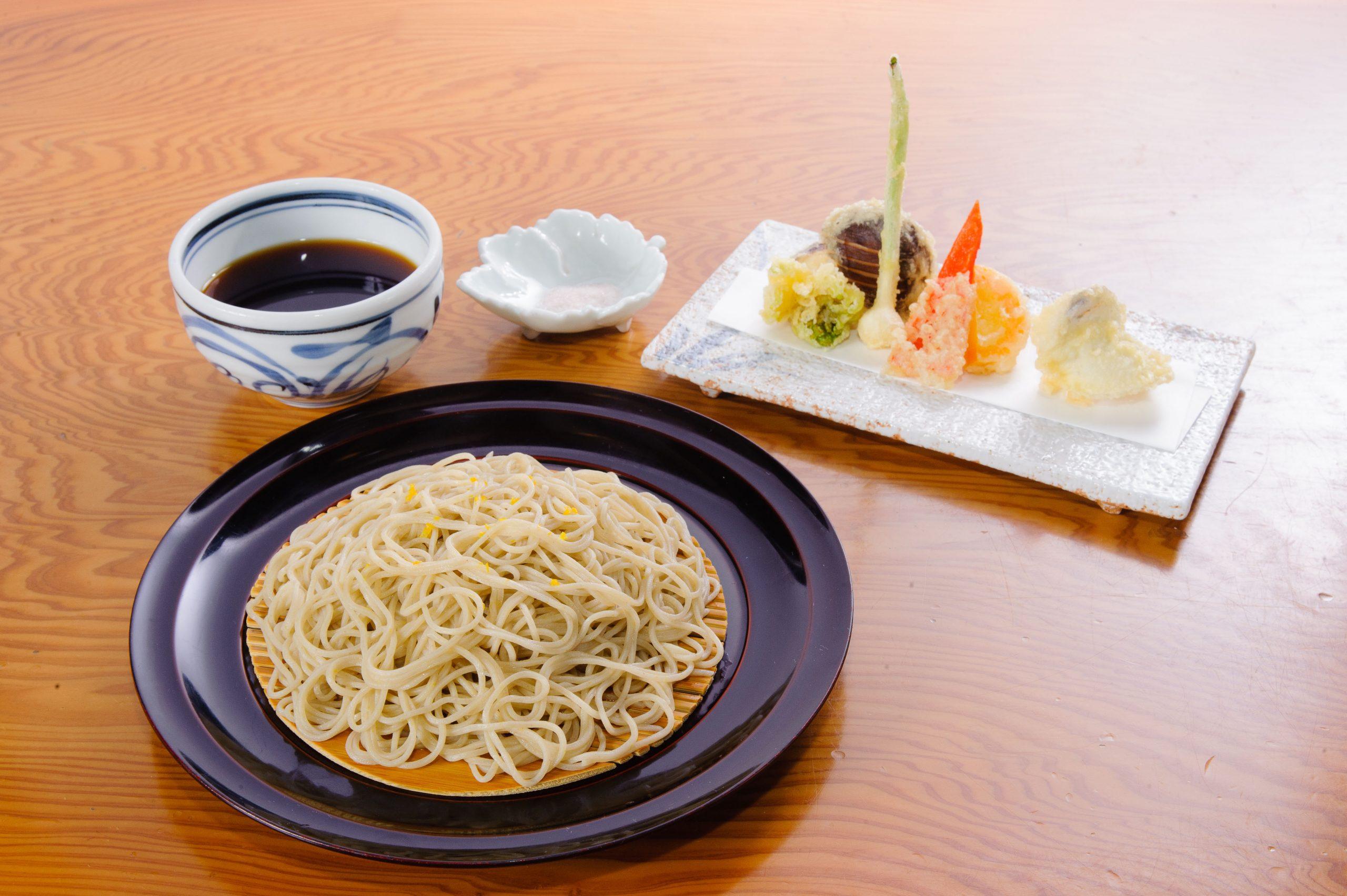 2月限定そば美藏メニュー『柚子切りと季節の天ぷら』