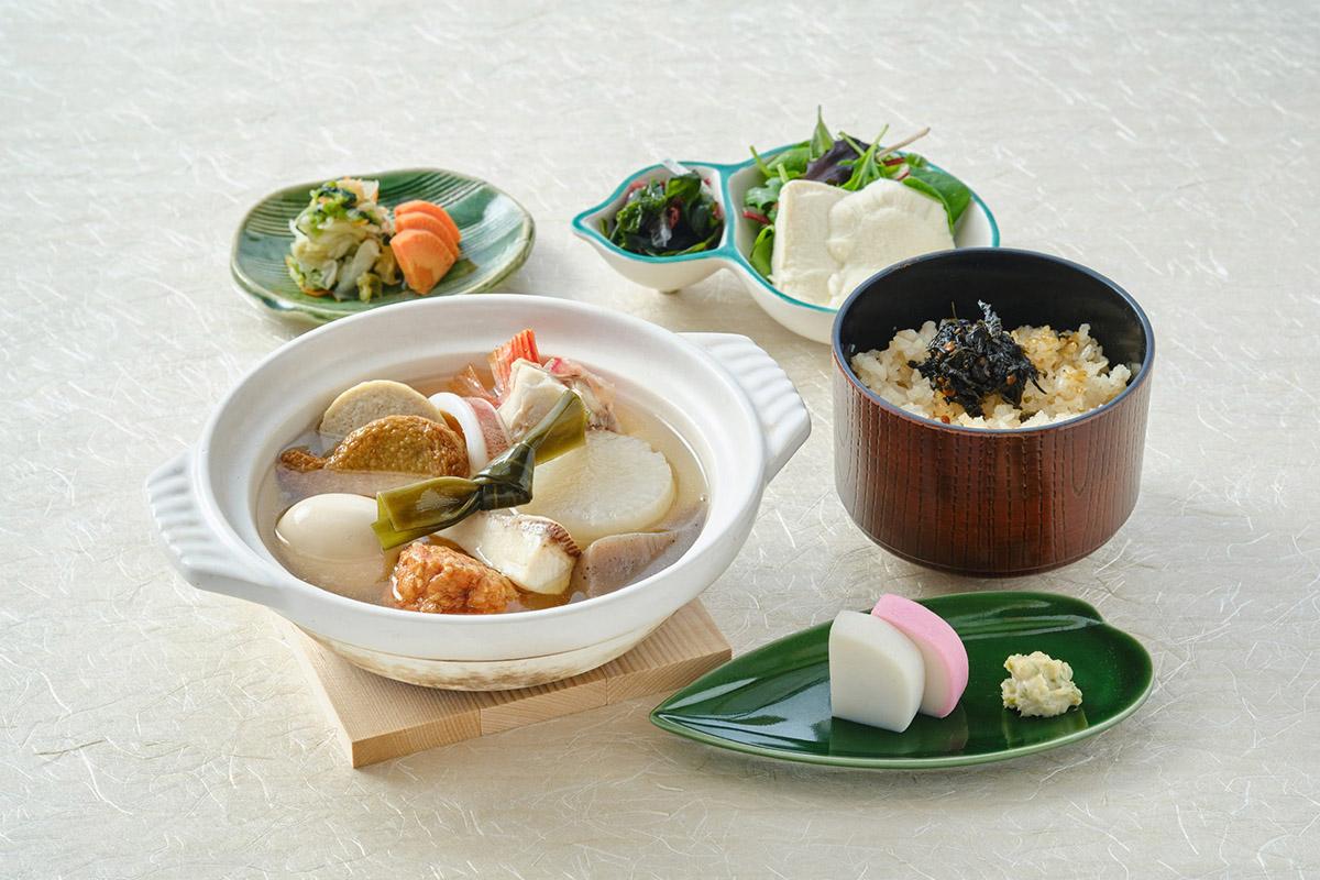 特製の海鮮出汁の「鈴廣の手づくりおでん漁師風御膳」