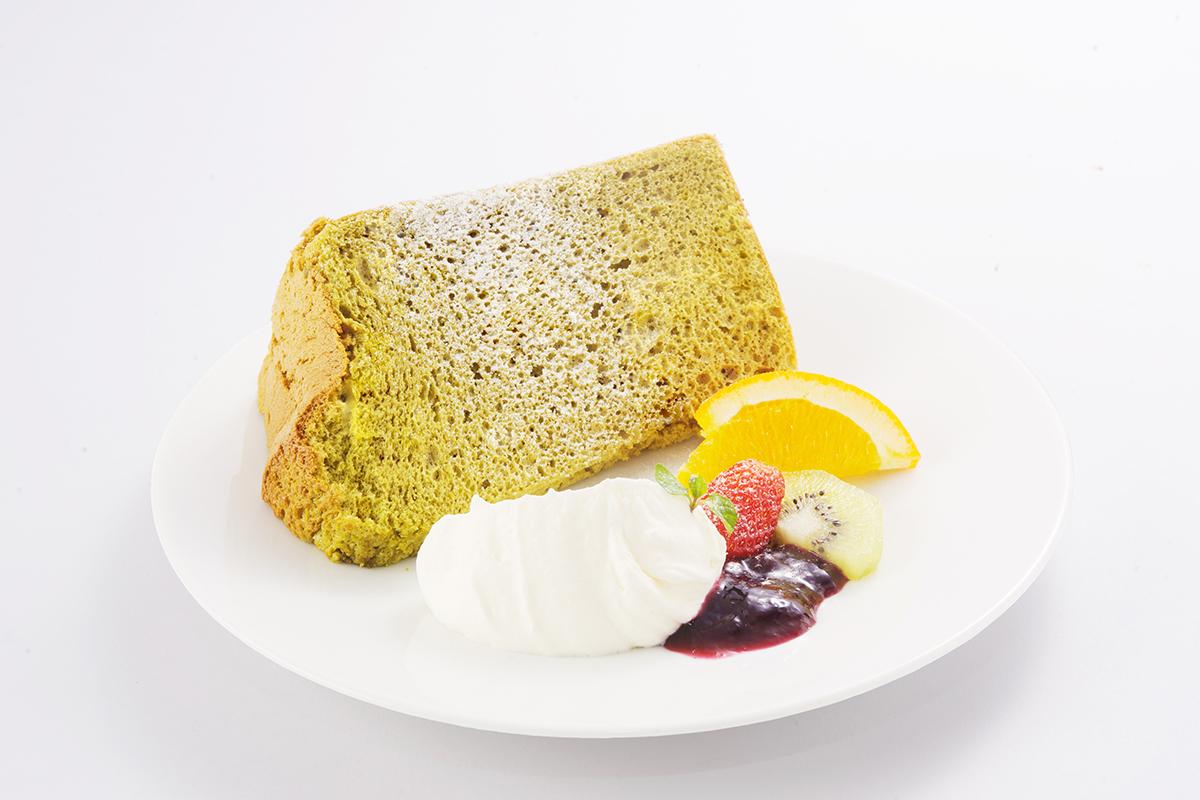 特別な茶葉を使った「お陽さまのシフォン丹沢大山茶」汐風カフェ  5月限定